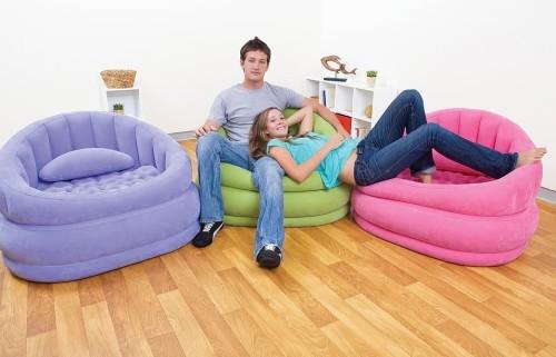 Виды и характеристики надувной мебели